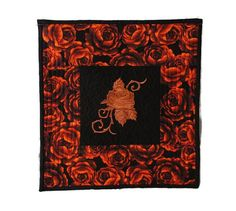 Mexican Embroidery Quilt Red Roses Fabric Rose Quilt Rose