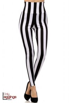 Premium Wide Stripe High Waist Leggings.  #onlyleggings #leggings #fashion #stripe