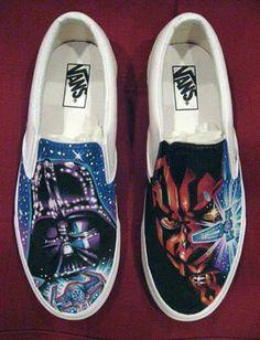 94b16ac3b509 Darth Vader painted art on VANS shoes
