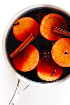 This classic Mulled Wine recipe is quick and easy to make, and the perfect drink for winter and holiday entertaining. Easy to make on the stove or slow cooker, seasoned with cinnamon and orange and spices, and so delicious!
