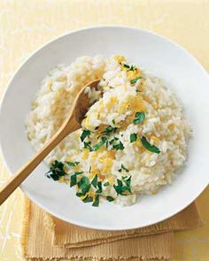 Lemon-Parsley Risotto | Real Simple Recipes - my favorite comfort food recipe