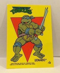 1989 Teenage Mutant NINJA TURTLES Sticker Trading Card - TripleGCollectibles, $1.50