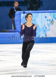 Sochi, RUSSIA - February 14, 2014: Daisuke TAKAHASHI (JPN) on ice during figure skating competition of men free skating at Sochi 2014 XXII Olympic Winter Games