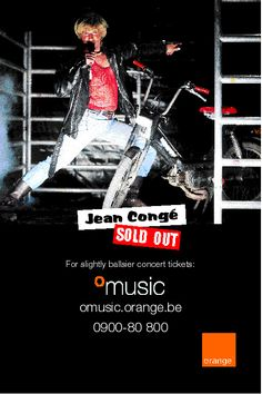Jean Congé, sold out. Orange Music launch campaign newspaper advert. 2000. VVL BBDO.