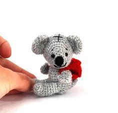 $23.58 amigurumi koala, #crochet #koala, #stuffed #koala, #plush #koala, #tiny #koala #doll, #miniature #koala, #knit #koala #doll, #amigurumi #doll, #small #koala