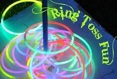 Glow necklace ring toss - Glow in the Dark: 15 Neon Birthday Party Ideas - ParentMap by lea