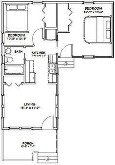 14x32 Tiny House -- #14X32H1I -- 643 sq ft - Excellent Floor Plans