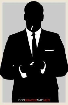 Don Draper - Mad Men - Character Poster. $15.00, via Etsy.