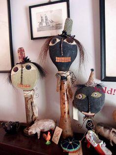 Primitive Folk Art Doll Makedo Shelf Sitter by Tattered Moon  Lurena Sheary Williamson