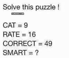 Puzzles in fundoes to make your brain sharp. Math Questions, Improve Yourself, Make It Yourself, Riddles, Awesome Stuff, Puzzles, Funny Jokes, Brain, Funny Pictures