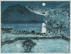 """ Nikolai Astrup (1880-1929), May Moon (n.d.). Woodcut, hand-colored. """