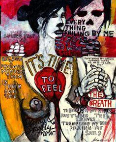 juliana coles mixed media artist | Wind in my Sails Original Art mixed media