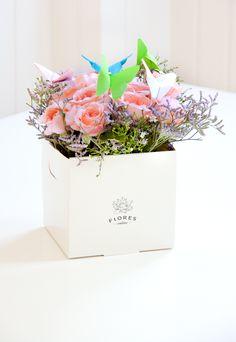 rosas y mariposas de origami