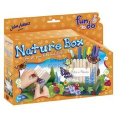 John Adams Fun To Do Nature Box  An easy to make 3D desk tidy with colour instructions Glue on lollipop sticks paint and decorate  http://www.comparestoreprices.co.uk/creative-toys/john-adams-fun-to-do-nature-box.asp