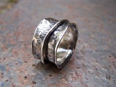 I am in love with hammered handmade rings.