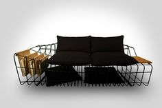 Check this out! It works as a couch and magazine rack and a bed!!!!