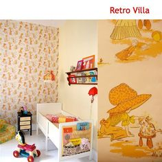Love that wall paper! From Retro Villa :)