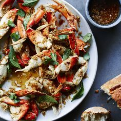 Cracked Crab with Lemongrass, Black Pepper, and Basil - Dungeness Crab Recipes - Sunset