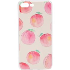 Pink Peach Print iPhone 6plus/6s Plus Case ❤ liked on Polyvore featuring accessories, tech accessories and phone cases