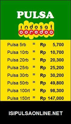 Pulsa Murah Indosat hanya di Isipulsaonline.net