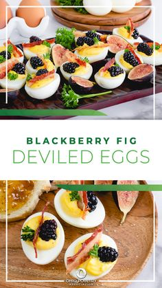 Put a sweet and savory twist on your tried-and-true deviled eggs recipe by making Blackberry Fig Deviled Eggs in 5 simple steps!