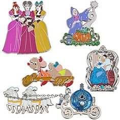 Limited Edition Classic Cinderella Pin Set -- 5-Pc.