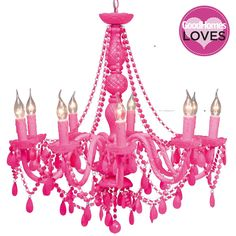 NEW! Popping Pink Chandelier | Chandeliers | Lighting | French Bedroom Company