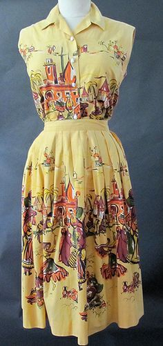 50s festive dress mexican motif - Google Search