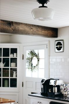 All of the details about that beautiful planked ceiling and faux beam Jim installed in our kitchen recently is up on the blog today!