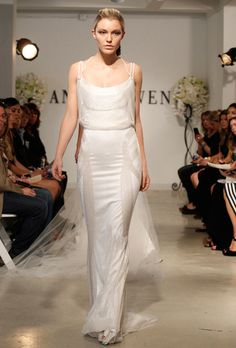 Brides.com: 1920s-Inspired Wedding Dresses. Anne Bowen. St. James, $8,800, Anne Bowen  See more Anne Bowen wedding dresses