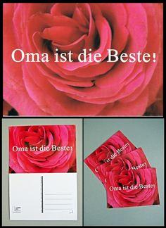 """Postkarte """"Oma ist die Beste!"""" von Art-MG auf DaWanda.com"""