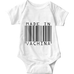 Made In Vachina White Baby Onesie | Sarcastic Me