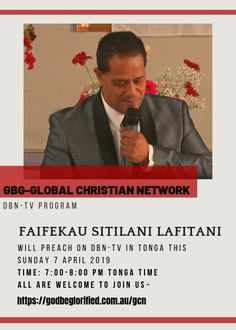 GBGGCN DBN-TV Sunday 7 April 2019 – Faifekau Sitilani Lafitani – FB Ad Churches Of Christ, Sunday, Ads, Facebook, Domingo