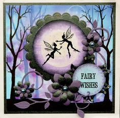 I love fairies.they are so enchanting so fairy cards always delight me. This card was made using Lavinia stamps. I need to learn the techniques yet before I could make one this beautiful. Elfen Fantasy, Rubber Stamp Company, Lavinia Stamps Cards, Fairy Jars, Silhouette Painting, Ppr, Pretty Cards, Card Tags, Creative Cards
