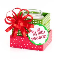 The Perfect Gift - Freebie! Wrapped and ready! 1 - Mini Gift Box, plus: 1 - Seasonal Mini Heritage Candle of your choice, plus: 1 - Gift Bow MagnaTie FREE! Holiday Candles, Best Candles, Holiday Gifts, Fragrant Candles, Scented Candles, Cute Gifts, Unique Gifts, Gold Canyon Candles, Gift Bows