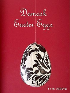 Easy patterned plastic Easter eggs.