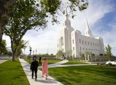 The Brigham City Temple is pictured prior to the dedication Sunday, Sept. 23, 2012. Another new film will be used in temple worship, according to a spokesman for the LDS Church.