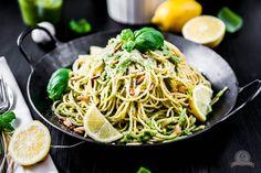 Heute gibt es leckere Basilikum Lemon Pasta