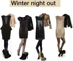 """""""Winter night out and clubbing"""" by myvirtuallife ❤ liked on Polyvore"""