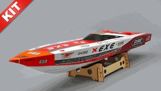 New Exceed Racing Fiberglass Gas Powered RC 1300mm Speed Boat Kit Version (Kit)