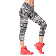 13806a700c3fc Amazon.com: Zumba Wide Waistband Dance Fitness Compression Fit Print Capri  Workout Leggings for Women, Bold Black 10, M: Sports &  Outdoors#zumbaleggings ...
