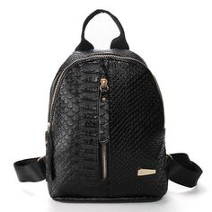 Item Type:Backpack   Color:Pink,White,Grey,Black   Material:PU Leather     Weight:328  g     Length: 21cm(8.27'')  Height: 24cm(9.45'') Width:8cm(3.15'')   Pattern:Solid   Closure:  Zipper                                                 Package Include:   1  * Bag