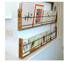 Wall Mounted Book Shelf, Natural Wood