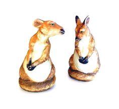 Vintage Animal Figurines Kangaroo Franklin Mint by OceansideCastle, $26.00