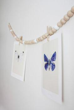 DIY:  wooden beads hanging cord