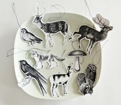 Decoration - 8 Deco Forest Animals-trailer or Gift Tags - a designer piece of Ahoy 2012 on DaWanda