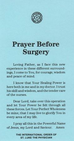 20 short but effective prayers for surgery - NurseBuffPrayers before the operation - praying Word brings strength to your life. Prayer healing power belief short but effective prayers for surgery - short Prayer Scriptures, God Prayer, Power Of Prayer, Prayer Quotes, Spiritual Quotes, Prayer Room, Bible Quotes, Bible Verses, Prayer List