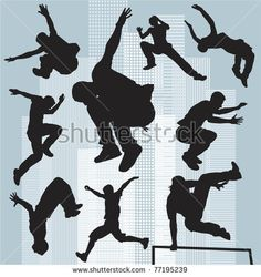 Buy Silhouettes parkour by milyana on GraphicRiver. set editable and scalable vector silhouettes parkour 5th Grade Art, Silhouette Clip Art, Hip Hop, Ninja Warrior, Medical Illustration, Fan Art, Drawing Reference Poses, Royalty Free Photos, Art Images