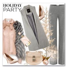 """Day to Night: Holiday Party"" by andrejae ❤ liked on Polyvore featuring Paule Ka, Charles David, Carolina Herrera, Chloé, women's clothing, women's fashion, women, female, woman and misses"