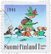 ФИНЛЯНДИЯ Муми Символы,  Иллюстратор - Туве Янссон  1994